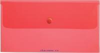 Папка конверт с кнопкой С6 180мкм красная AKk_06303